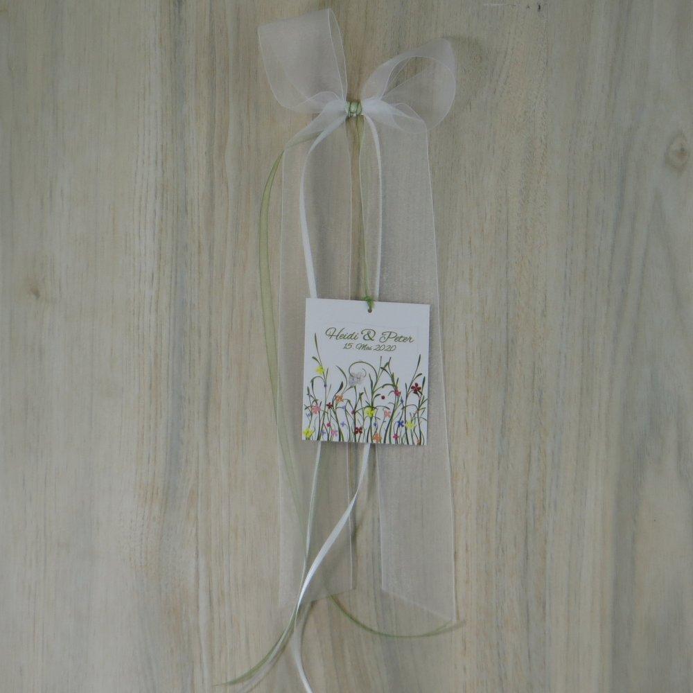 Autoschleife Hochzeitswiese bunt