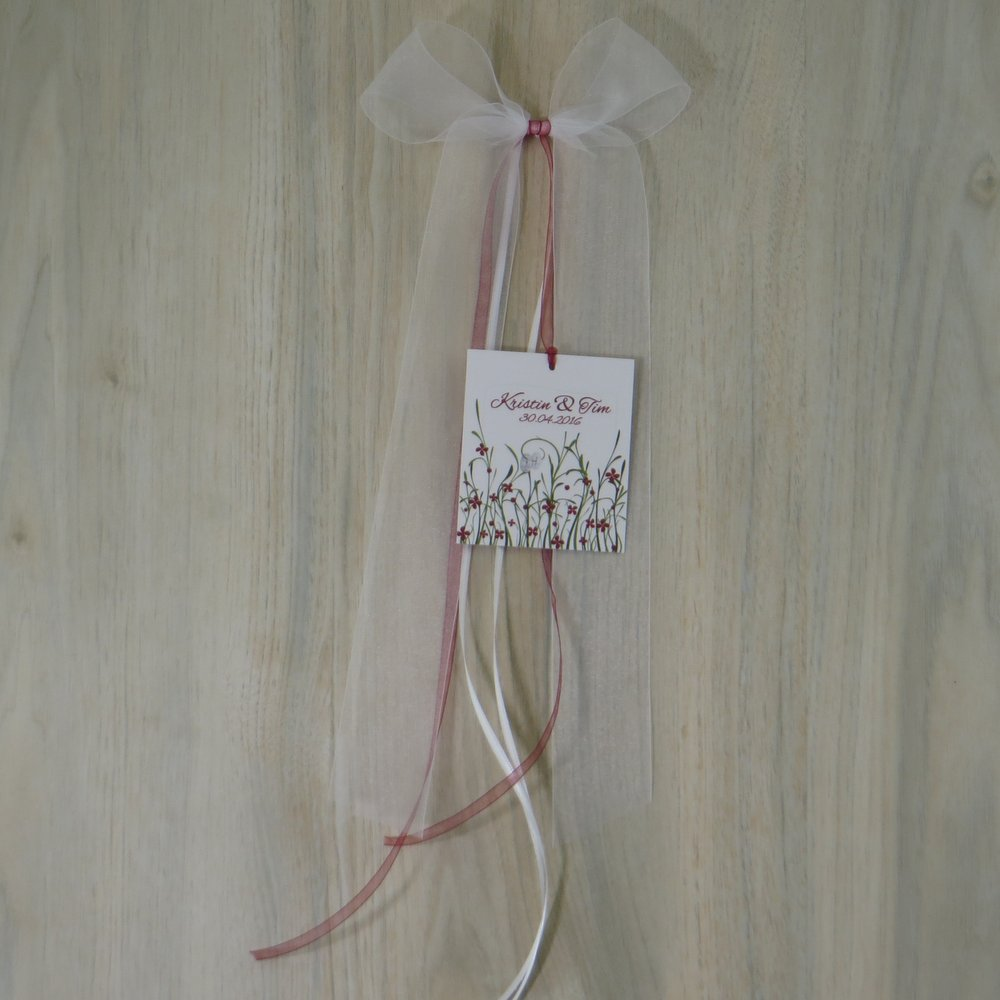 Autoschleife Hochzeitswiese rot