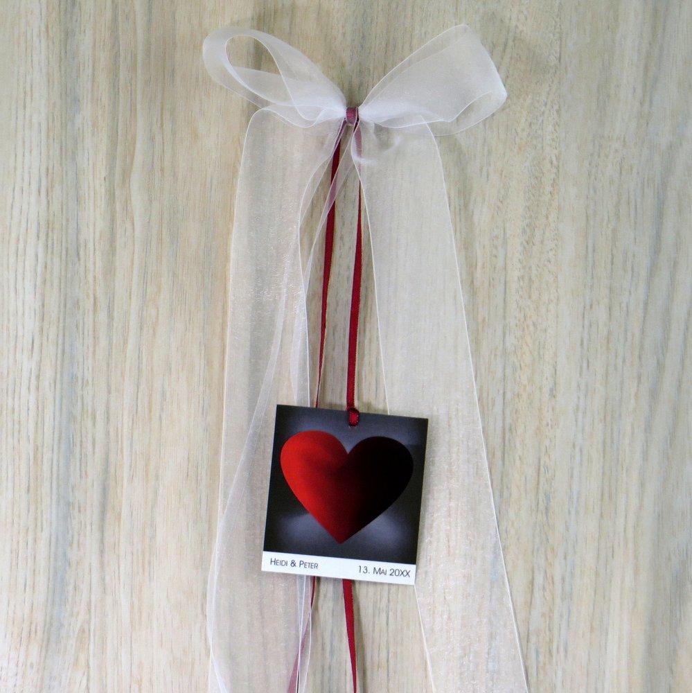 Autoschleife rotes Herz