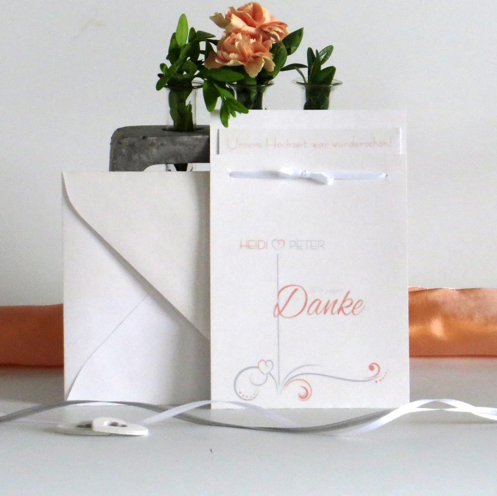 "Danksagung Fototasche ""Design in apricot"""