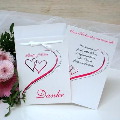 "Danksagung Fototasche ""Harmonie"" pink"