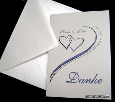 """Danksagungskarte """"Harmonie"""" flieder"""