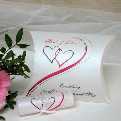 """Hochzeitseinladungsbox """"Harmonie pink"""""""