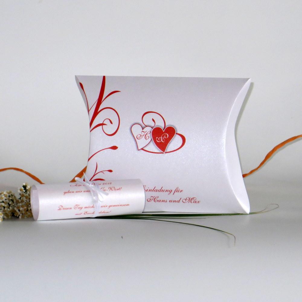"""Hochzeitseinladungsbox """"Ti Amo"""" orange"""