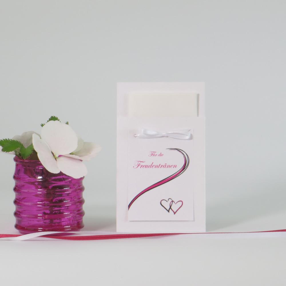"""Taschentuchtasche '""""Poesie"""" pink"""