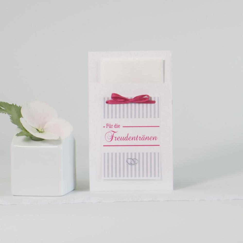 """Taschentuchtasche """"Ringe"""" pink & grau"""