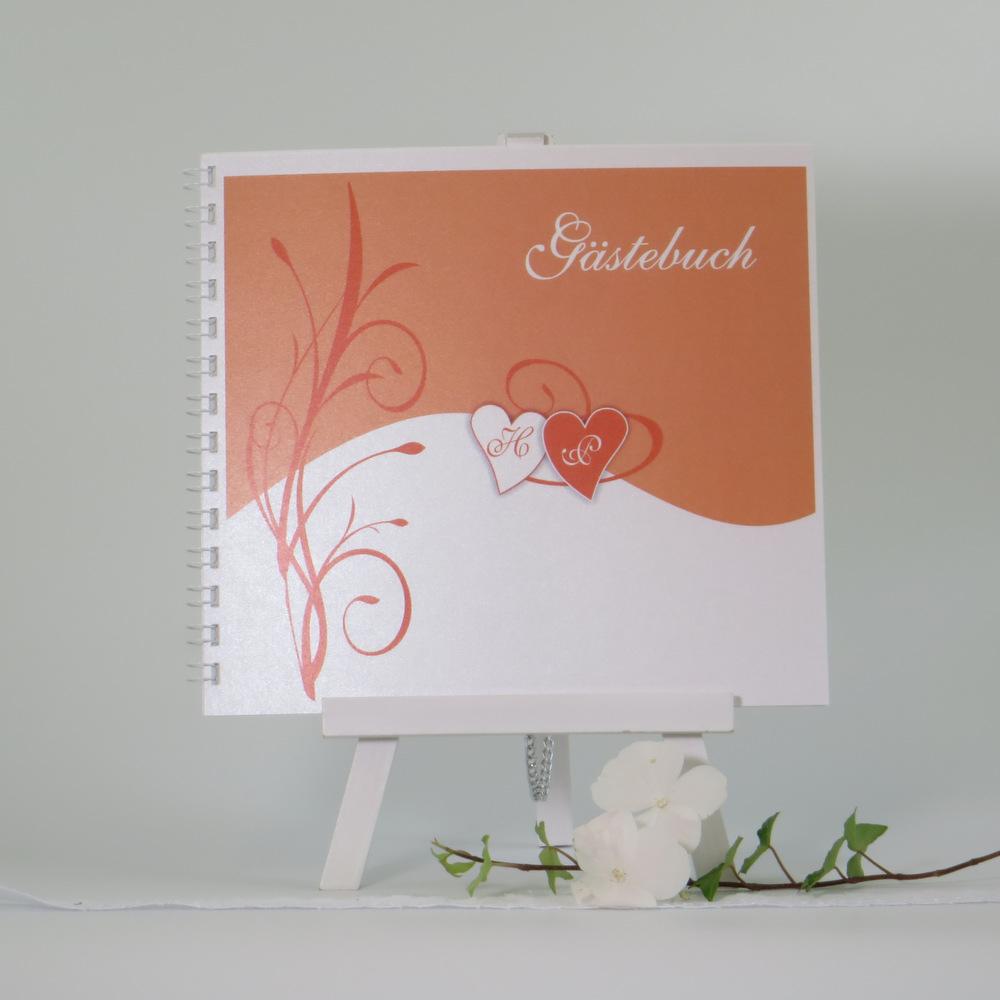 "Gästebuch ""Ti Amo"" orange"