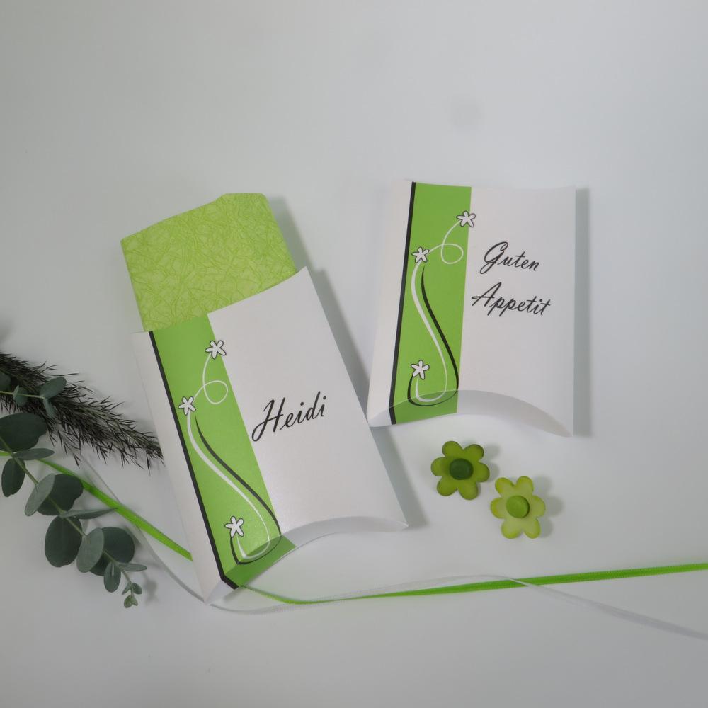 """Serviettentasche """"Trendlines"""" grün-grau"""