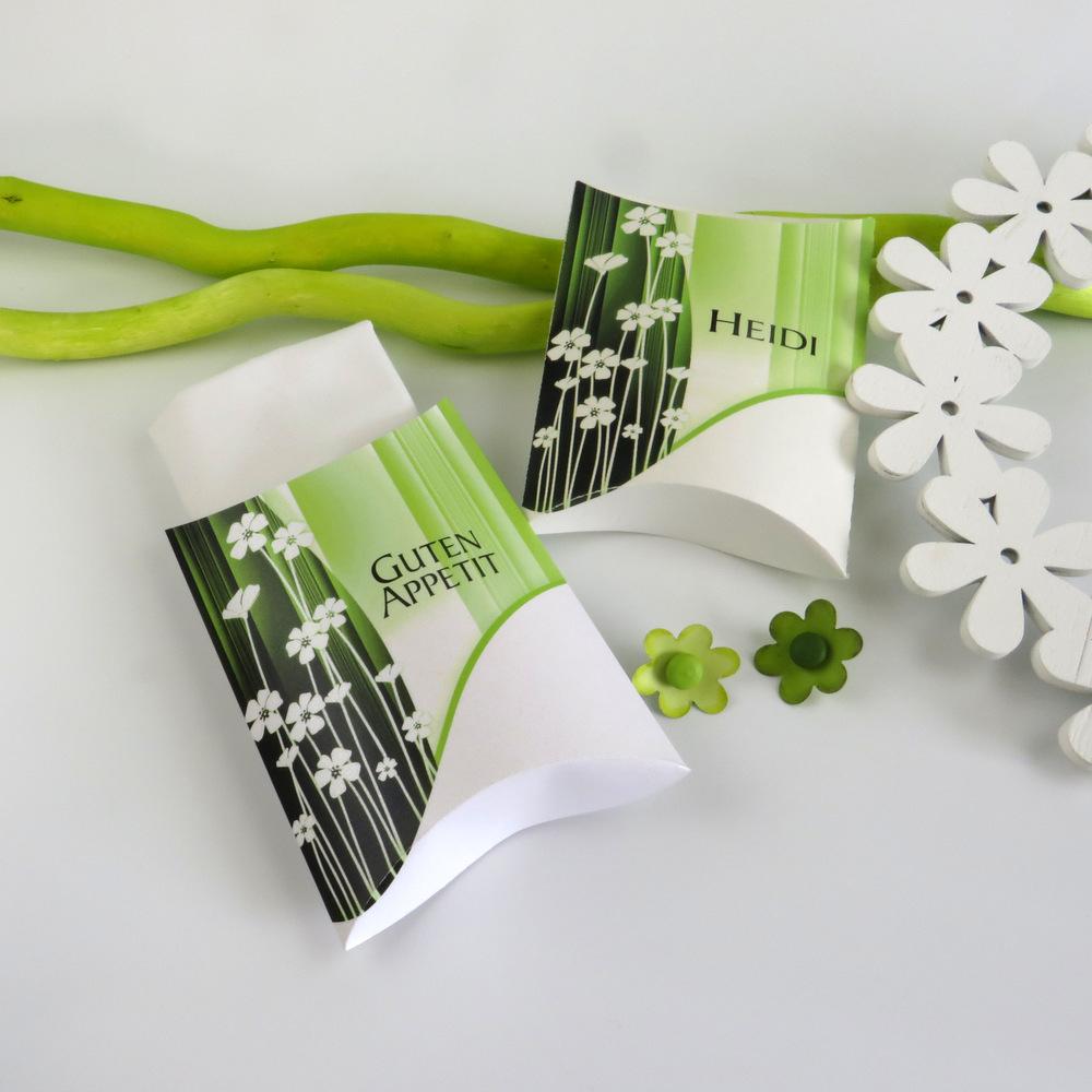 """Serviettentasche """"floral"""" grün"""
