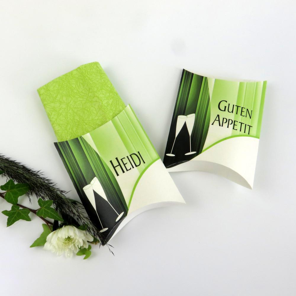 """Serviettentasche """"Sekt elegant'"""" grün"""