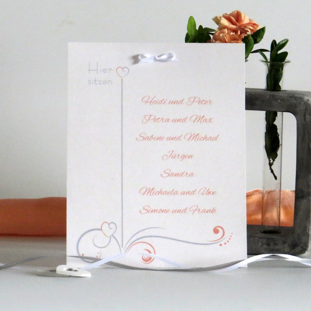 """Tischaufsteller """"Design in apricot"""" groß"""