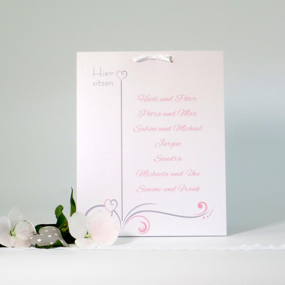 """Tischaufsteller """"Design in rosa"""" groß"""
