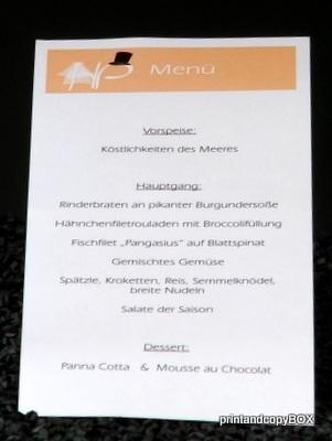 """Menükarte/Schriftrolle """"Brautpaar"""" apricot"""