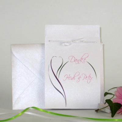 """Danksagung Fototasche """"Blüte"""" pink & grün"""