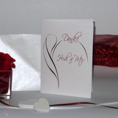 """Danksagungskarte """"Blüte"""" rot"""