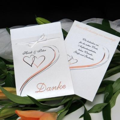 "Danksagung Fototasche ""Harmonie"" apricot"