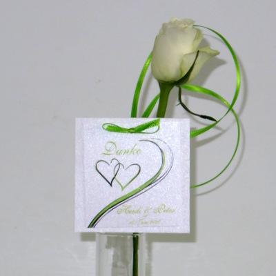 """Dankgeschenkanhänger """"Harmonie"""" grün"""