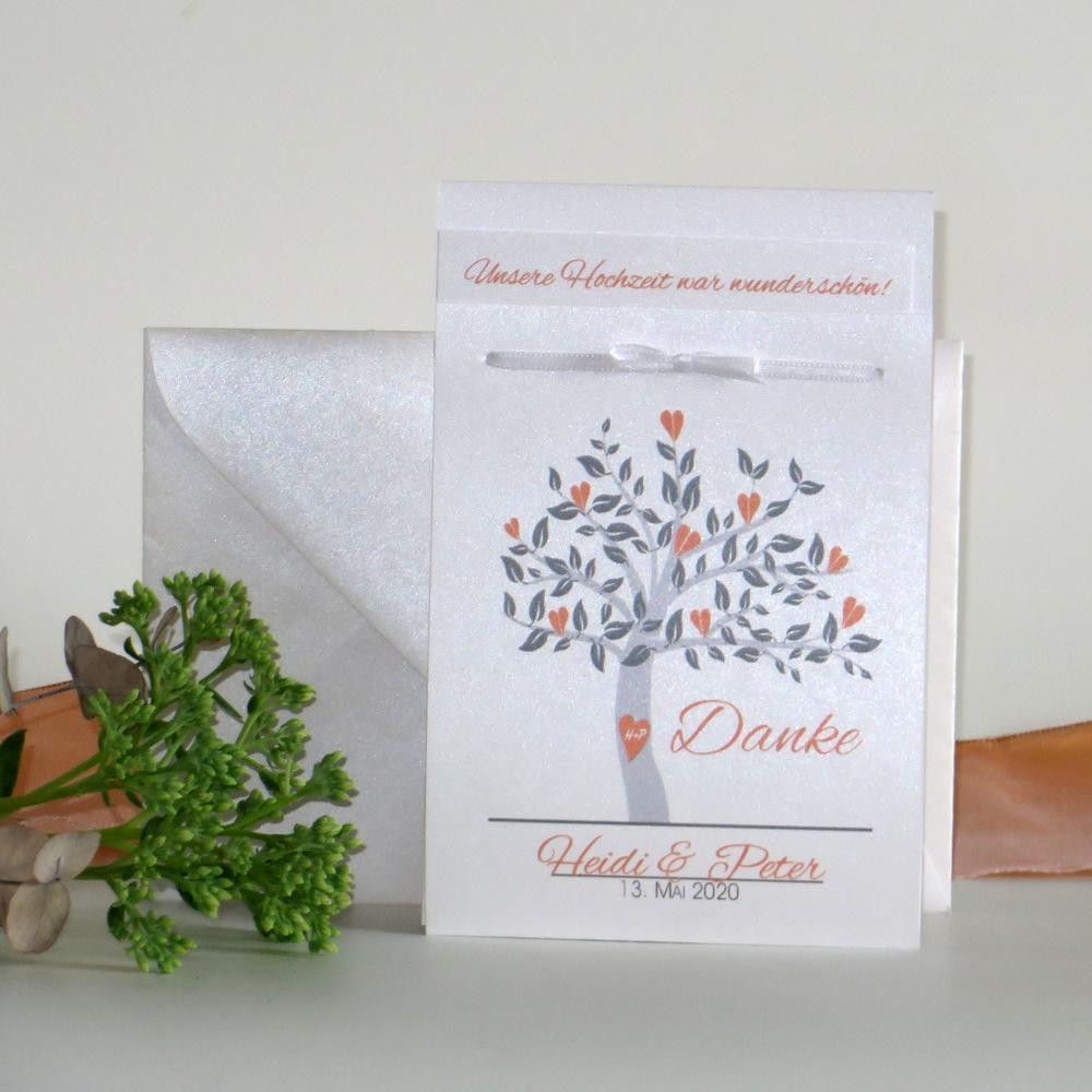 "Danksagung Fototasche ""Baum"" orange"