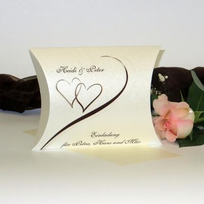 """Hochzeitseinladungsbox """"Harmonie braun"""""""