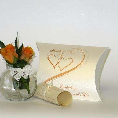"""Hochzeitseinladungsbox """"Harmonie orange"""""""