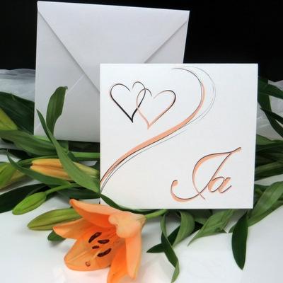 """Hochzeitseinladung """"Harmonie apricot"""""""