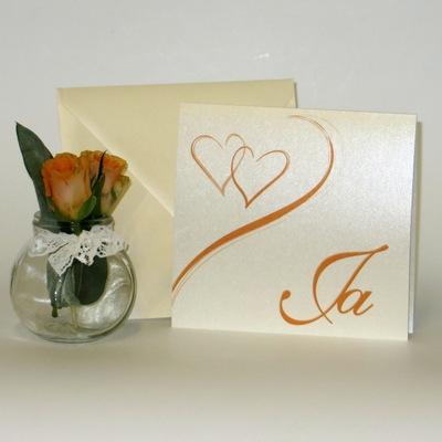 """Hochzeitseinladung """"Harmonie orange"""""""
