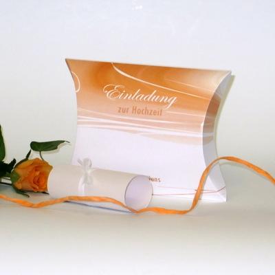 """Hochzeitseinladungsbox """"Apricot Duett"""""""