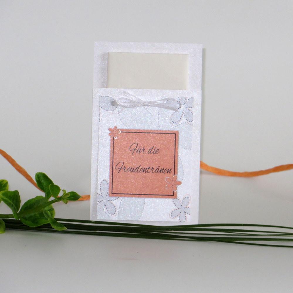 """Taschentuchtasche """"Blumen"""" orange"""