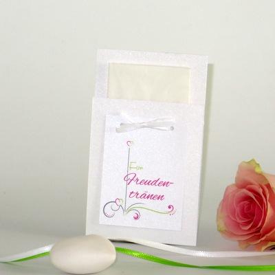 """Taschentuchtasche """"Design in grün & pink"""""""