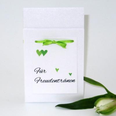 """Taschentuchtasche """"Herzle"""" grün"""