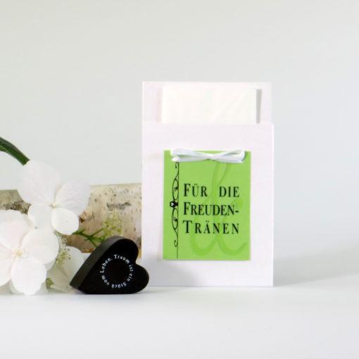 """Taschentuchtasche """"Monogramm"""" grün"""