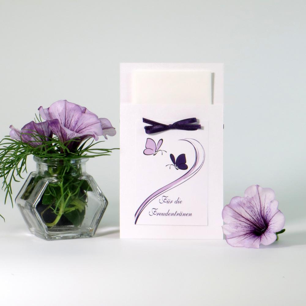 """Taschentuchtasche """"Schmetterlinge"""" lila"""