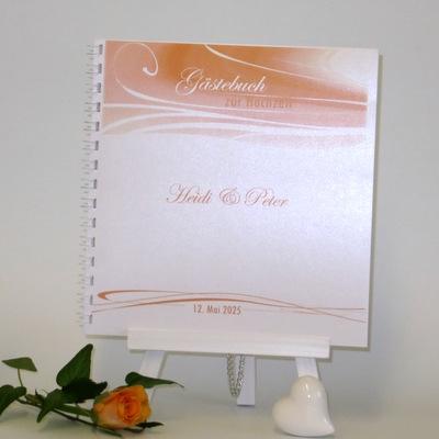 "Gästebuch ""Apricot Duett"""