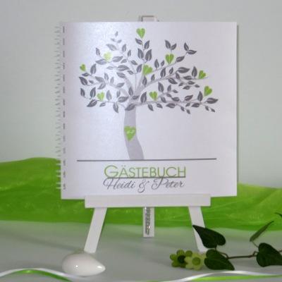 """Gästebuch """"Baum"""" grün"""