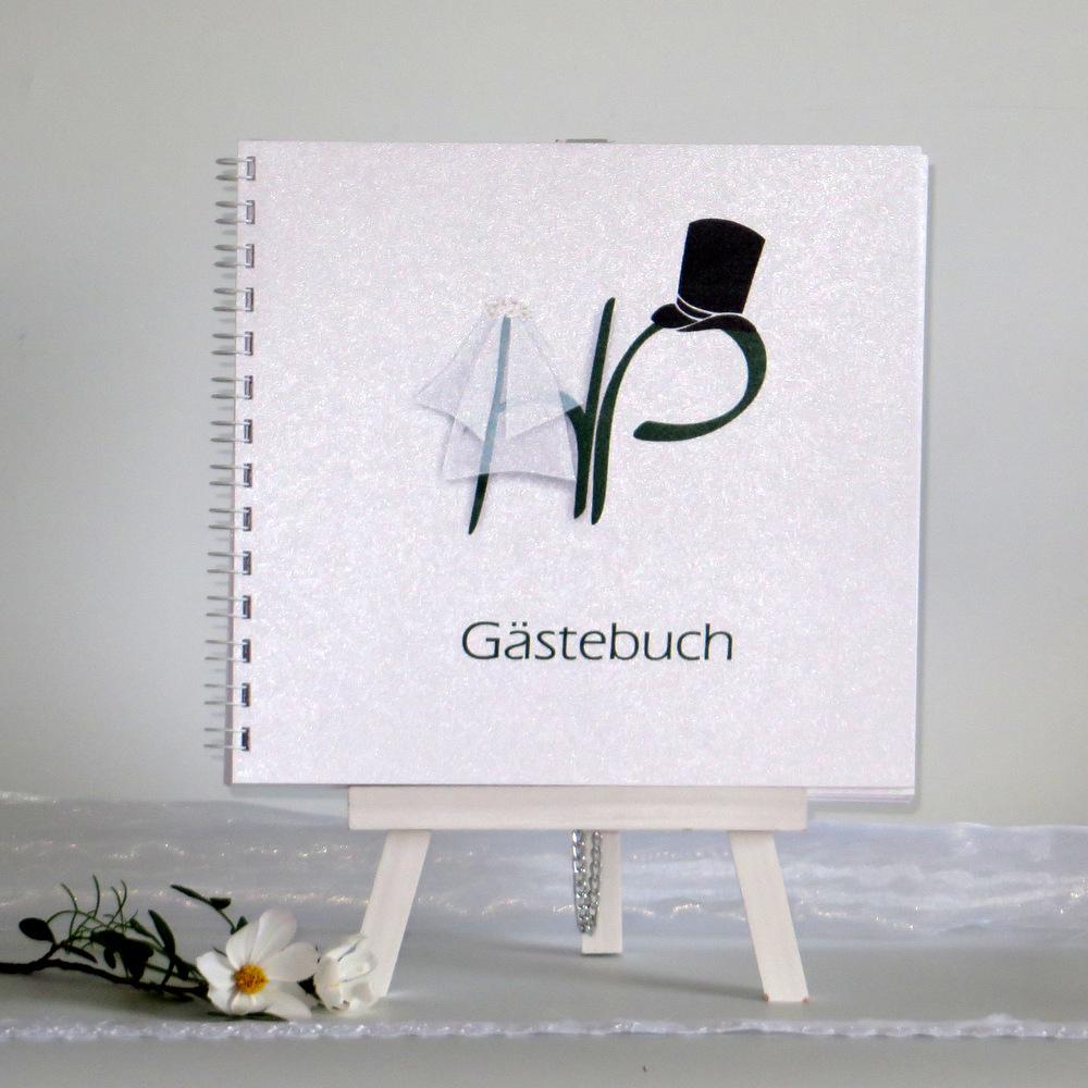 "Gästebuch ""Brautpaar"" dunkelgrün"