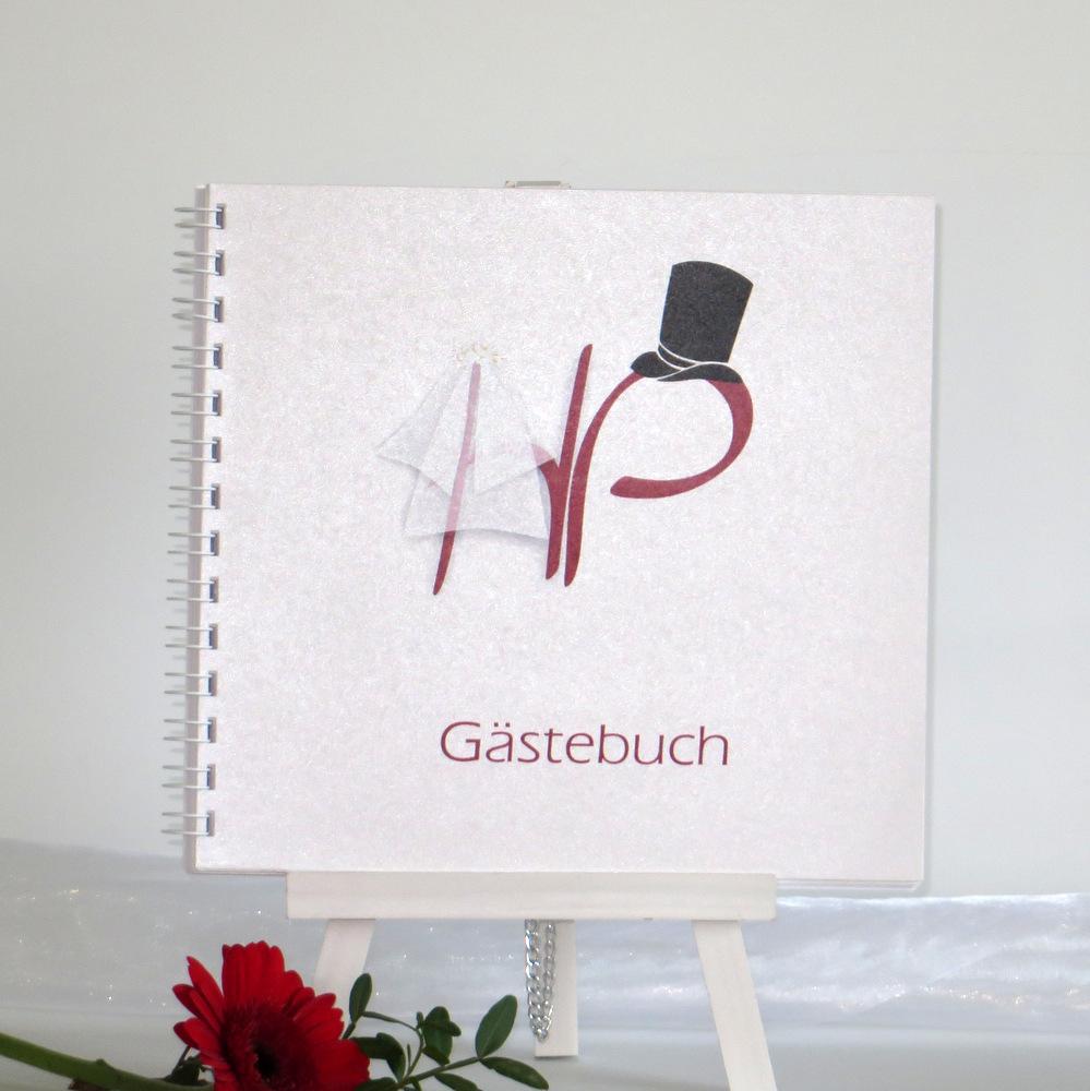 "Gästebuch ""Brautpaar"" rot"