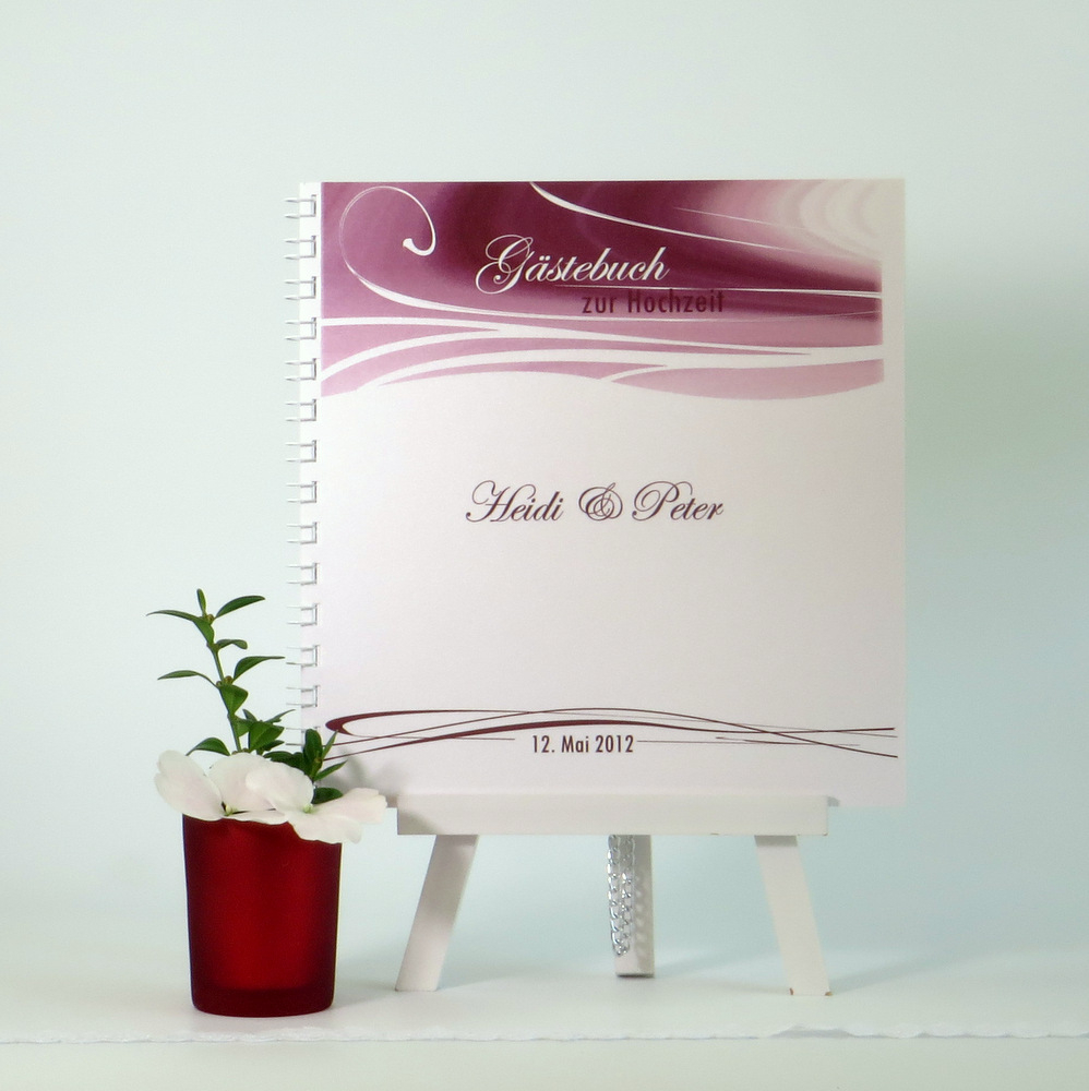 "Gästebuch ""Duett bordeaux"""