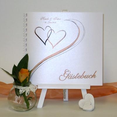 """Gästebuch """"Harmonie apricot"""""""