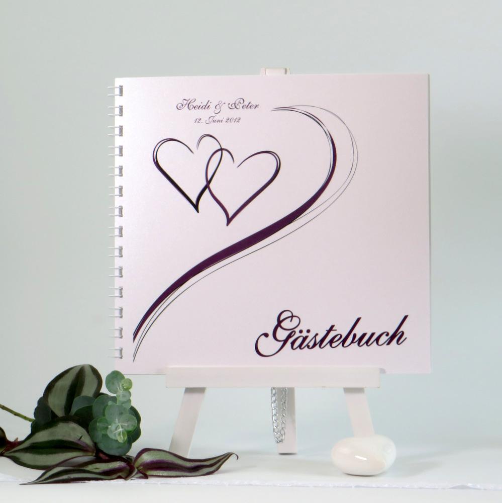 "Gästebuch ""Harmonie aubergine"""