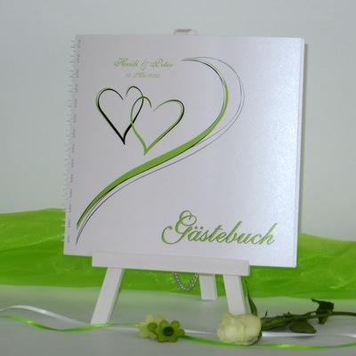 """Hochzeitsgästebuch """"Harmonie grün"""""""