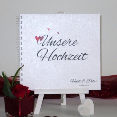 """Gästebuch """"Herzle"""" rot"""