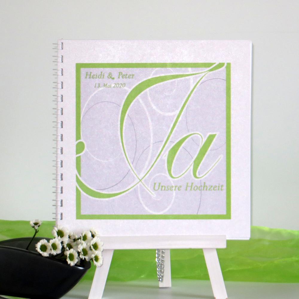 "Gästebuch ""Ja-Wort"" grün"