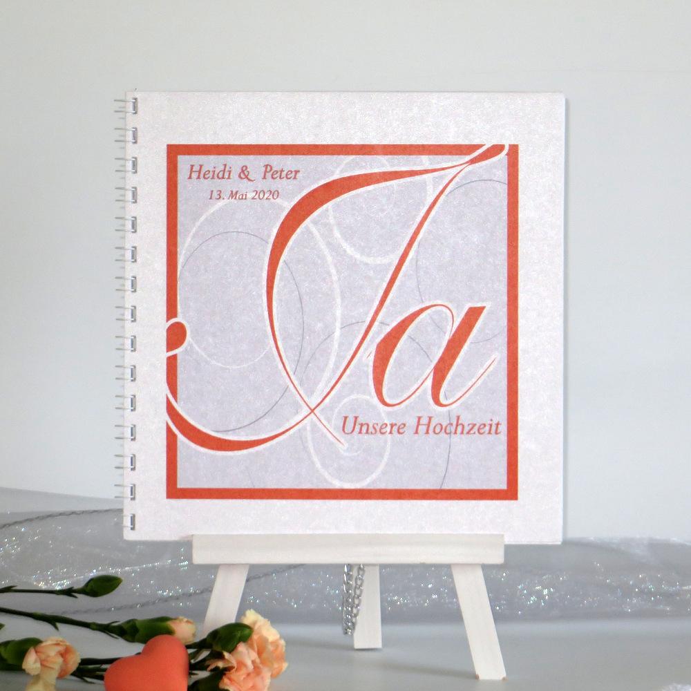 "Gästebuch ""Ja-Wort"" orange"