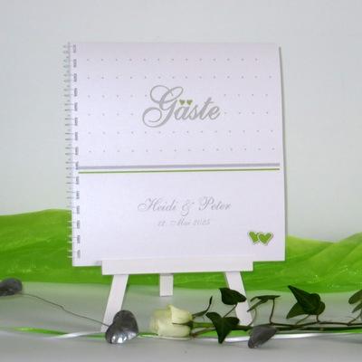 """Gästebuch """"NEIN"""" grün&weiß"""