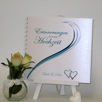 """Gästebuch """"Poesie"""" türkis"""