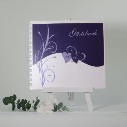 "Gästebuch ""Ti Amo"" lila"