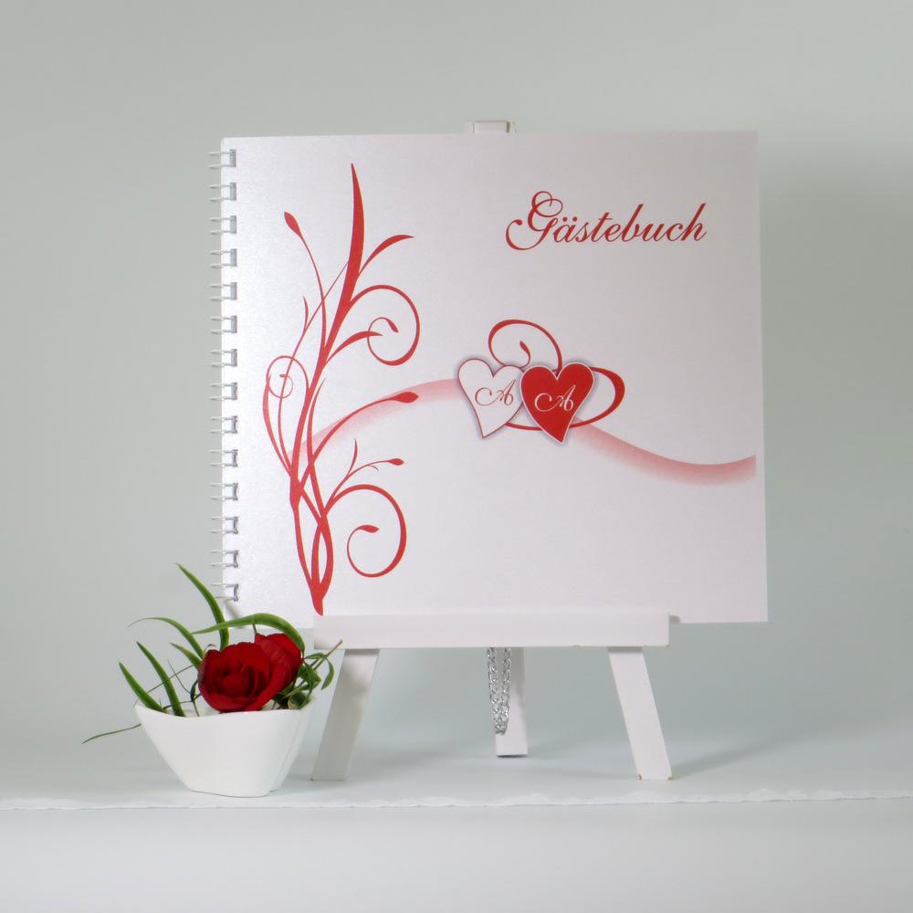 "Gästebuch ""Ti Amo"" rot"
