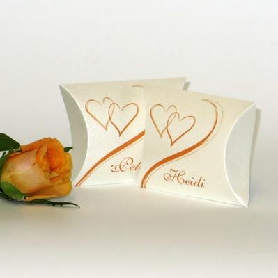 """Gastgeschenk + Tischkarte """"Harmonie orange"""""""