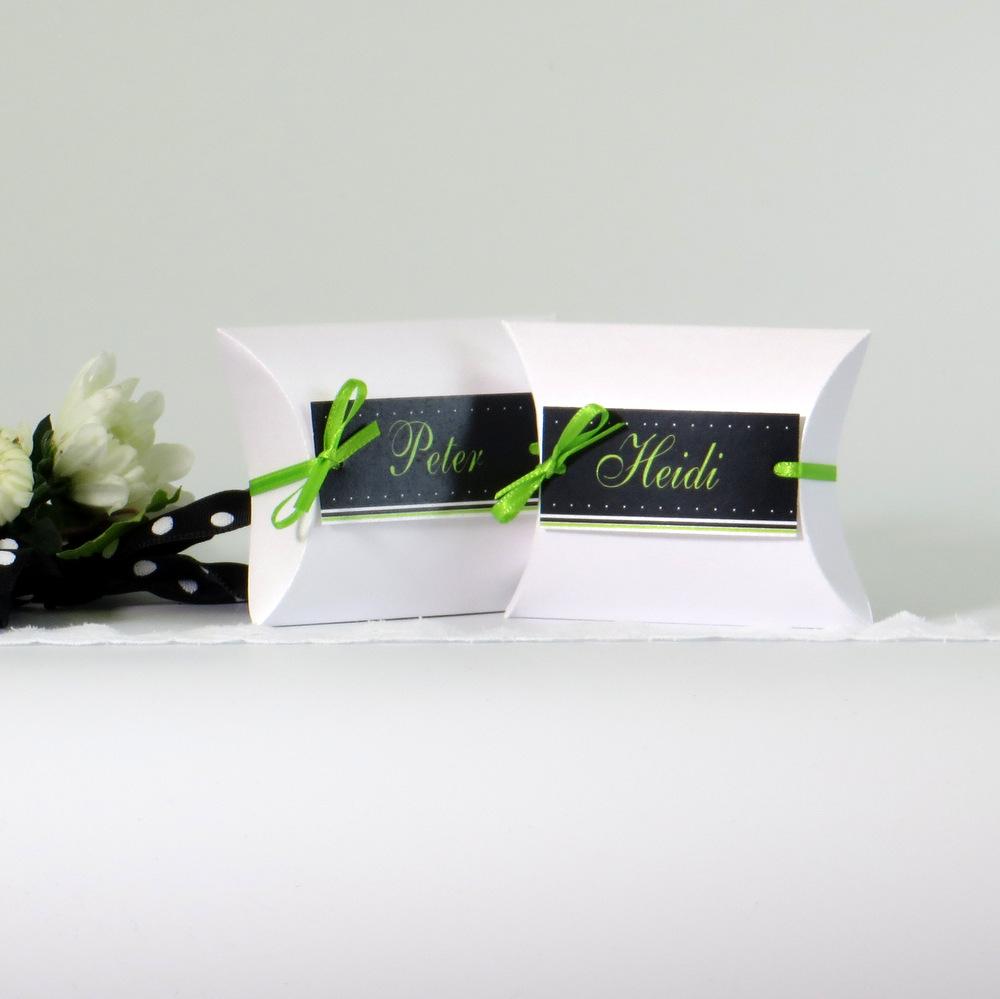 """Gastgeschenk + Tischkarte """"NEIN"""" grün"""