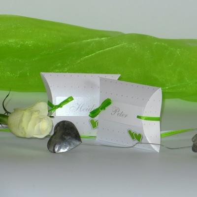 """Gastgeschenk + Tischkarte """"NEIN"""" grün&weiß"""
